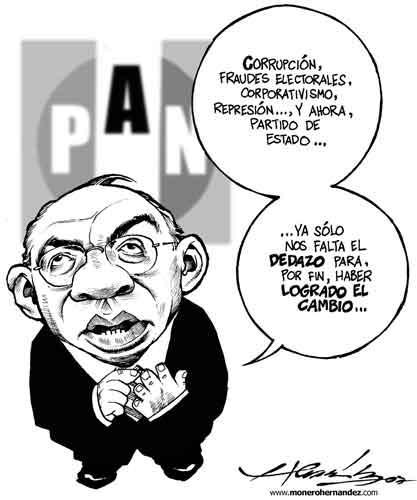 Resultado de imagen para vicente fox caricatura politica gobierno del cambio
